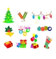 Set of holiday icons vector image