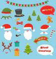 Christmas Prop Set vector image