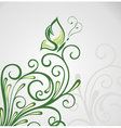Abstract floral background with background vector image