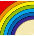 Abstract retro rainbow background vector image vector image