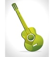 acoustic guitar isolated icon design vector image vector image