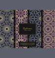 arabesque pattern background set design vector image