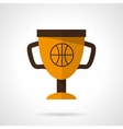 Basketball award flat color design icon vector image vector image