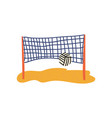 beach volleyball court ball and net summer vector image