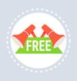 big promotion free gift label megaphone icon vector image