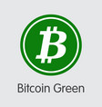 bitcoin green - cryptocurrency coin image vector image vector image