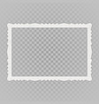 blank vintage photo frame vector image vector image