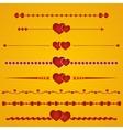 Border heart vector image vector image