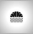 brain rain - online data storage symbol image vector image