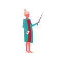 businesswoman holding wooden pointer business vector image