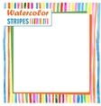card with bright colored stripes template vector image vector image