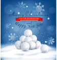Christmas background with a bunch of snowballs vector image vector image