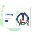 cleaning website landing page design vector image vector image