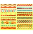 Collection of pixel brushes in tribal style vector image vector image
