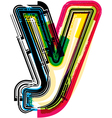 Colorful Grunge font LETTER y vector image vector image