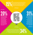 Colorful infographic design vector image