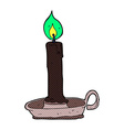 comic cartoon spooky black candle vector image vector image