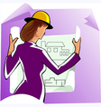 construction woman vector image vector image