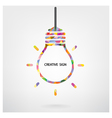Creative light bulb Idea sign vector image vector image