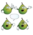 Crying pear set vector image vector image