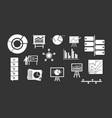 diagram icon set grey vector image