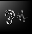 ear hearing sound sign gray 3d printed vector image vector image