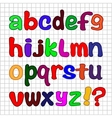 English alphabet vector image vector image