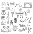 Entertainment and visual arts sketch icons vector image