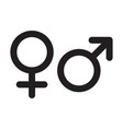 female and male gender icons isolated man sex vector image vector image