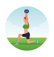 fitness woman doing exercise vector image vector image