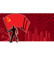 Flag Bearer USSR Background vector image vector image