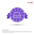folder archive icon - purple ribbon banner vector image