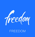 freedom lettering template vector image