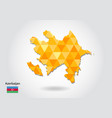 geometric polygonal style map of azerbaijan low vector image vector image