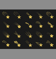Golden shooting star icons