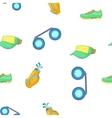 Golf sport pattern cartoon style vector image
