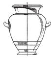 greek urn is designed with painted clay vintage vector image vector image