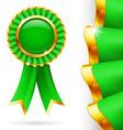 Green award ribbon vector image vector image