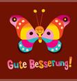 gute besserung get well soon in german vector image vector image