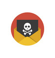 hacker attack icon concept of sending spam and vector image vector image