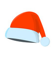hat xmas isolated icon cartoon style for vector image vector image
