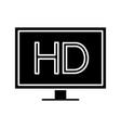hd display glyph icon vector image