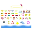 isolated summer beach stuff on a white background vector image