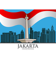 Jakarta City vector image