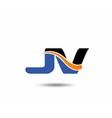 JV company linked letter logo vector image vector image