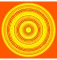 knit sun vector image