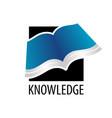 knowledge square open book icon logo concept vector image