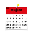 Leaf calendar 2017 with the month of August vector image vector image
