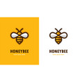 linear bee icon vector image vector image