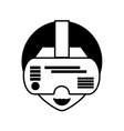 man virtual reality glasses technology outline vector image